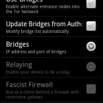 Android Tor settings